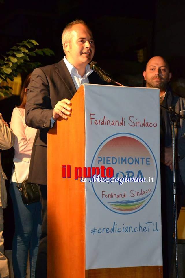 """Piedimonte al voto. Appello di Ferdinandi: """"Governeremo lontani dalle vecchie logiche politiche"""""""
