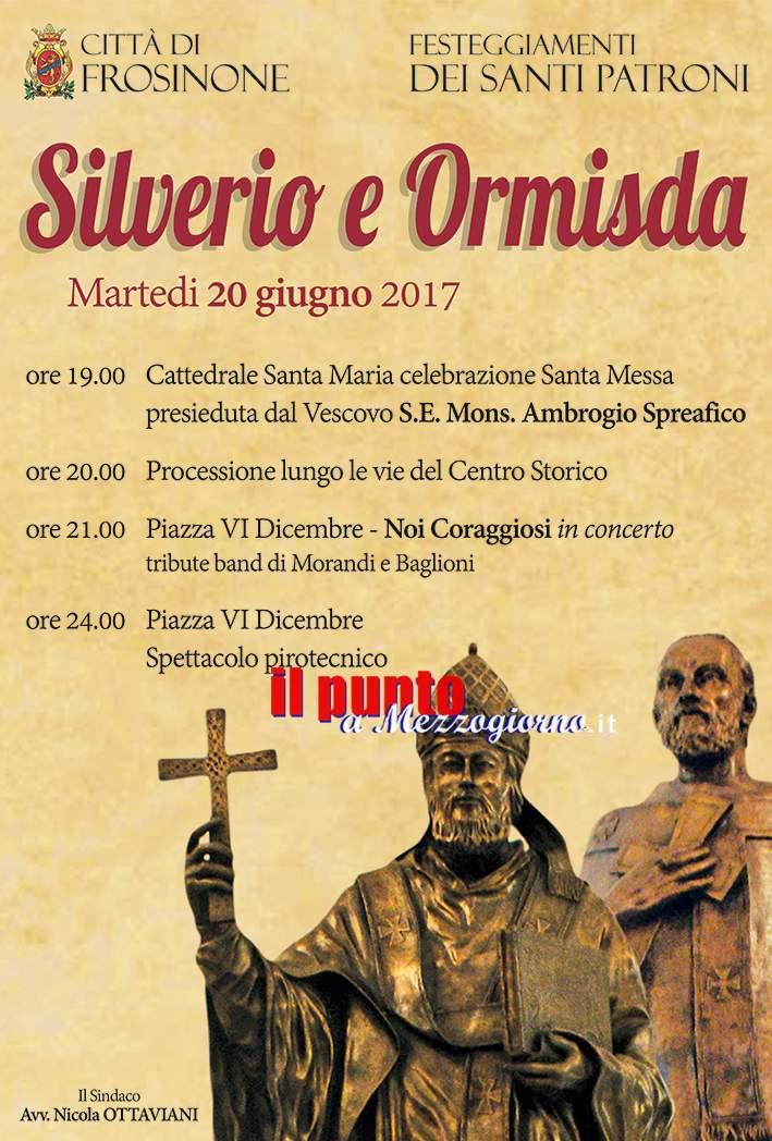Frosinone: Festeggiamenti in onore dei Santi Patroni Silverio ed Ormisda