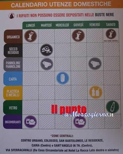Cassino, dal 1° luglio nuovo calendario per la raccolta differenziata delle utenze domestiche