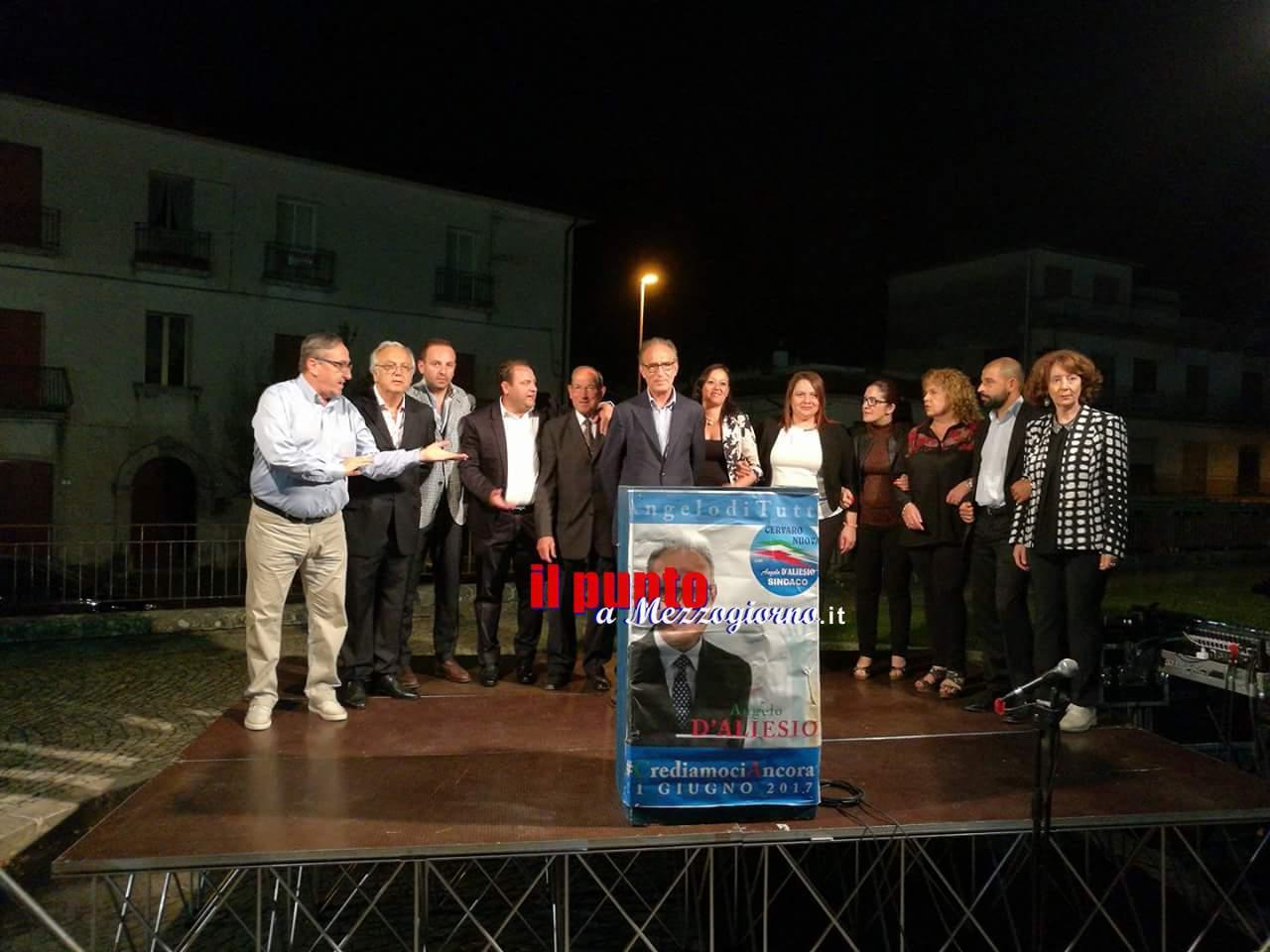 Cervaro: Angelo D'Aliesio confermato sindaco