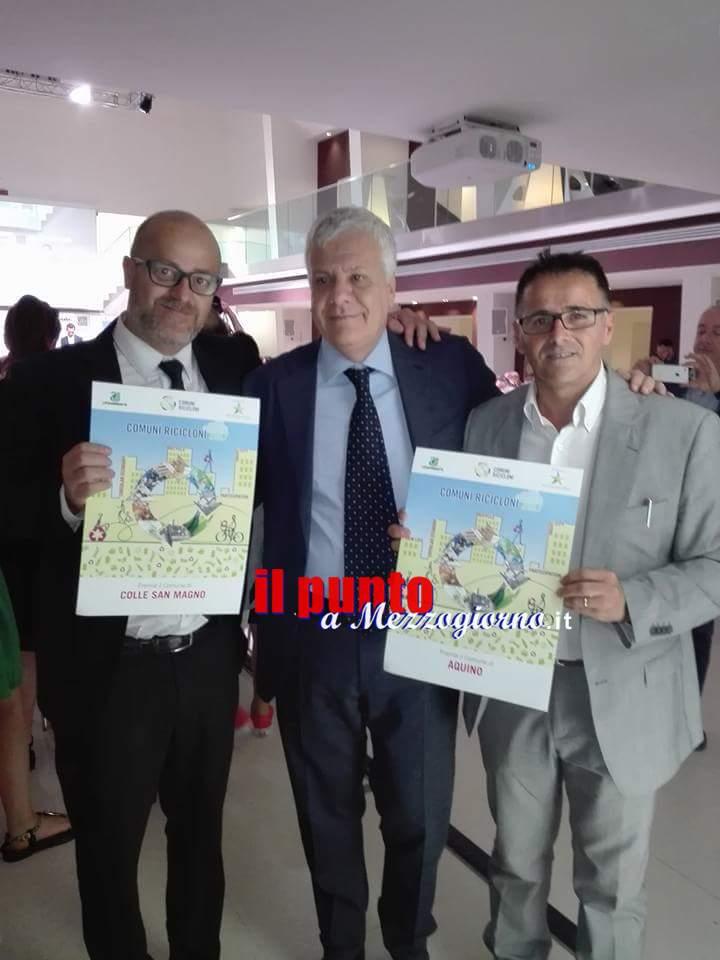 Ambiente: Comuni ricicloni, Aquino e Colle San Magno tra i premiati
