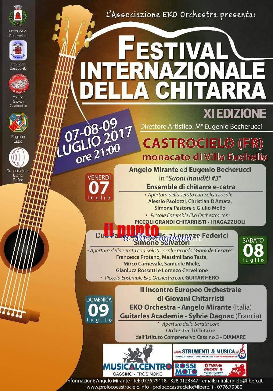 Castrocielo: Festival Internazionale della chitarra, si parte