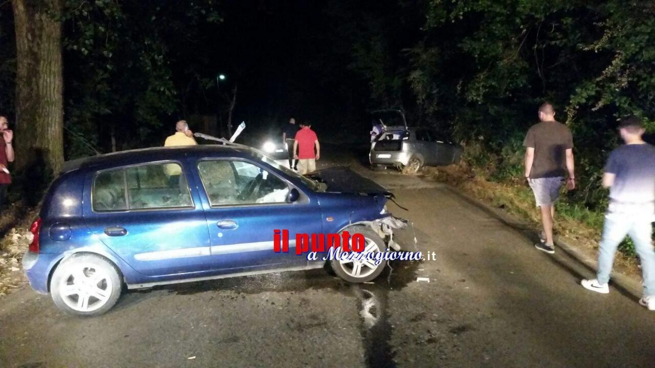 Incidente stradale in via Sant'Angelo a Cassino. Un ferito