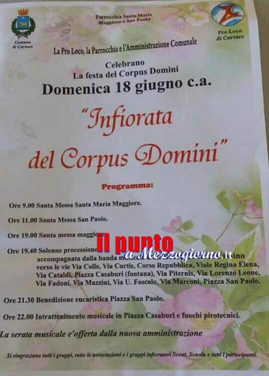 Cervaro: Grande attesa per l'infiorata del Corpus Domini