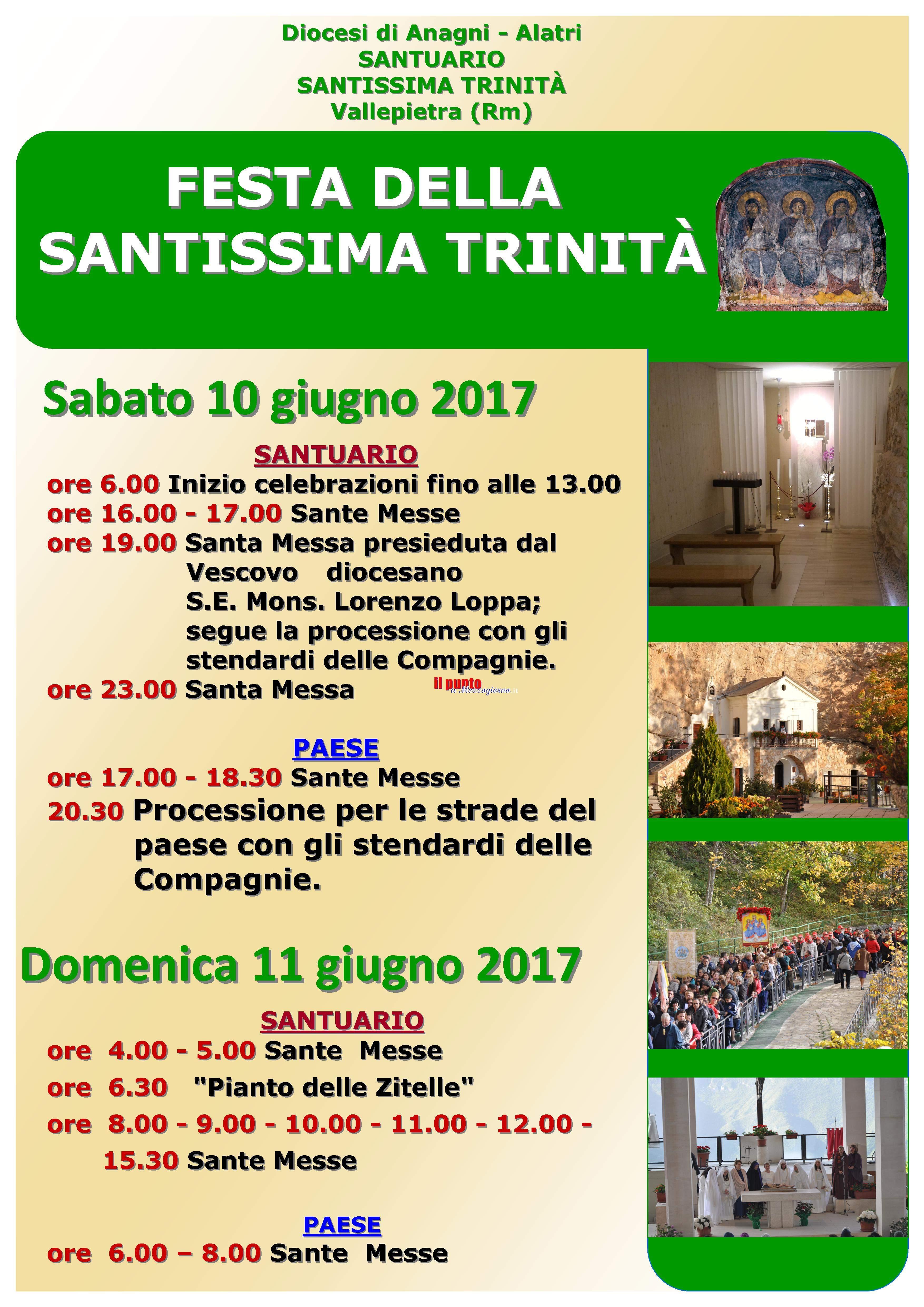 Vallepietra- Attesa per la festività della Santissima Trinità. Previsti in due giorni 30.000 fedeli