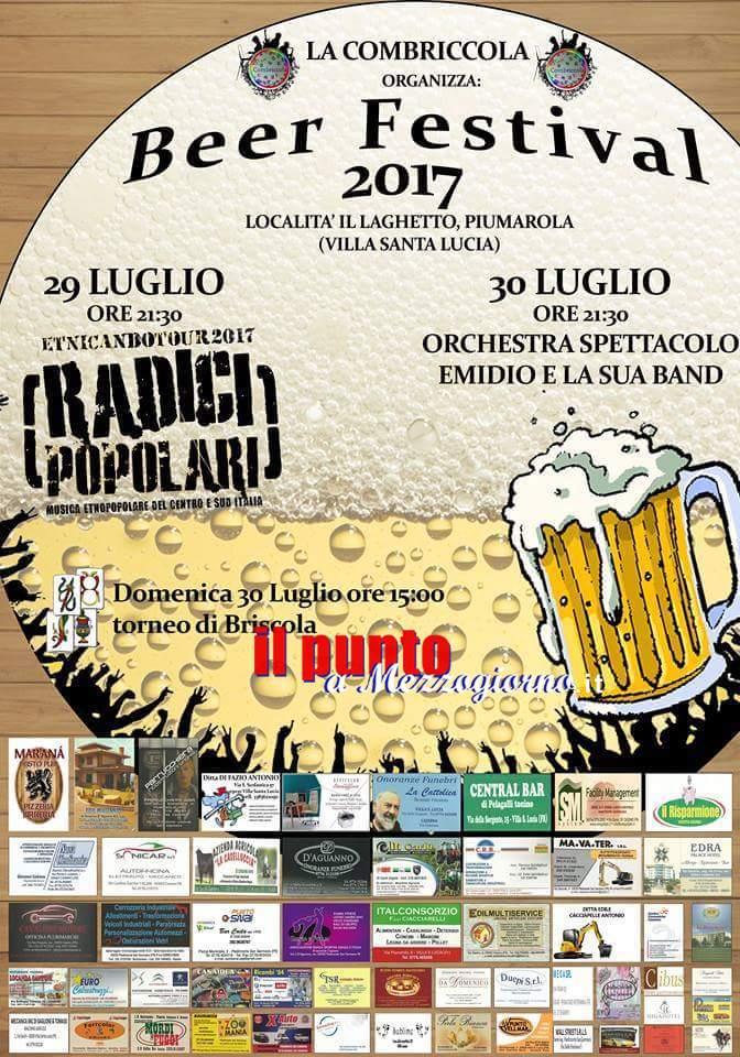 A Piumarola è… Beer Festival 2017. Appuntamento al Laghetto
