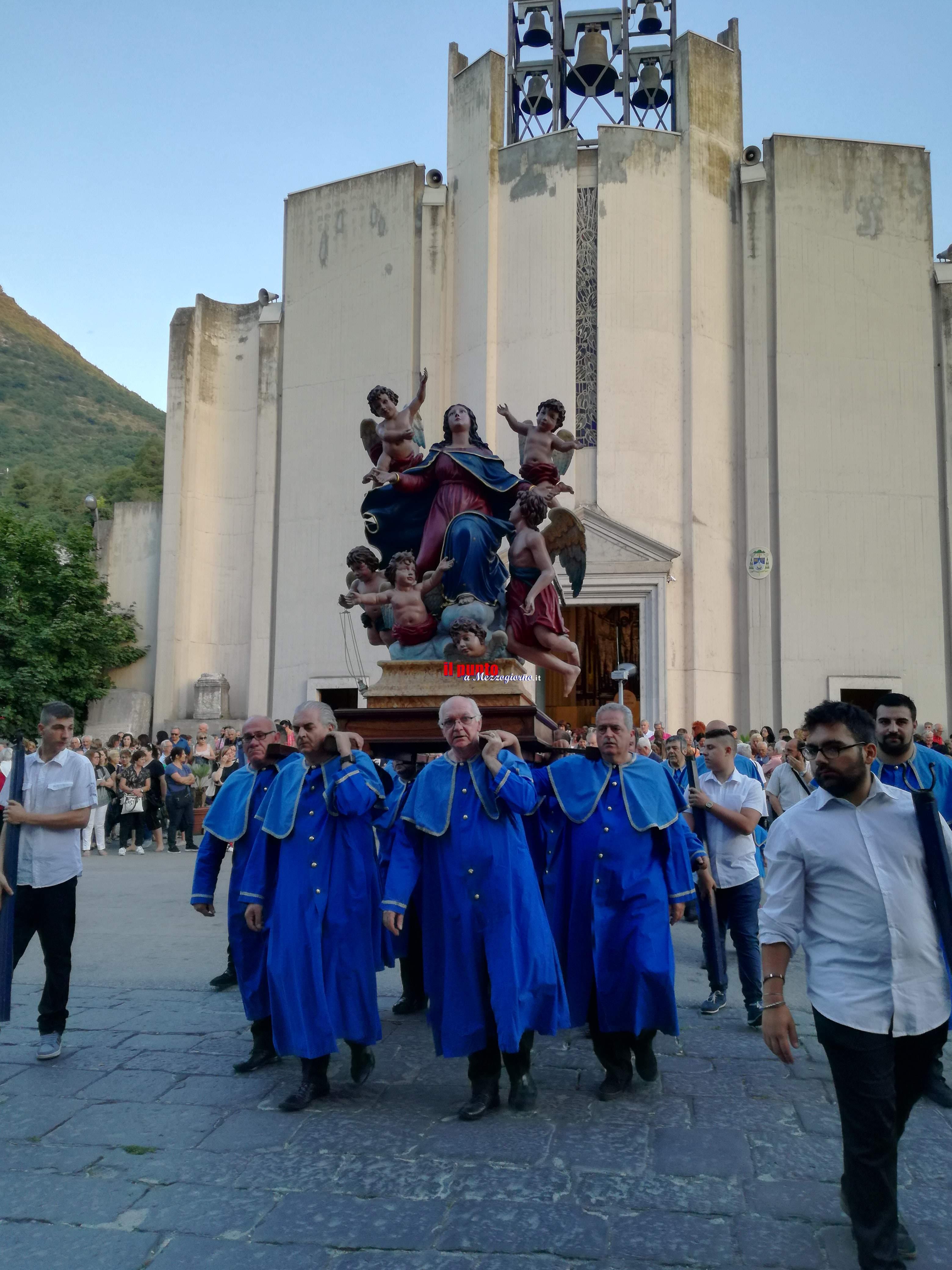 Cassino: Madonna dell'Assunta, tantissimi devoti per la processione del 9 luglio