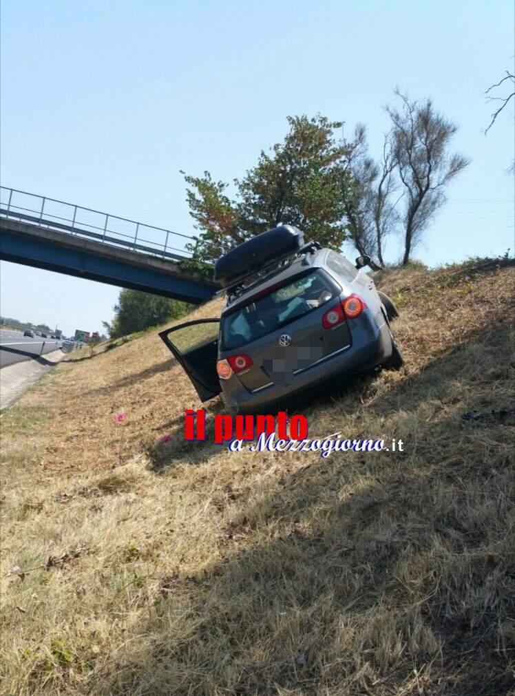 San Vittore del Lazio: Incidente in A1, una vettura esce di strada. Un ferito