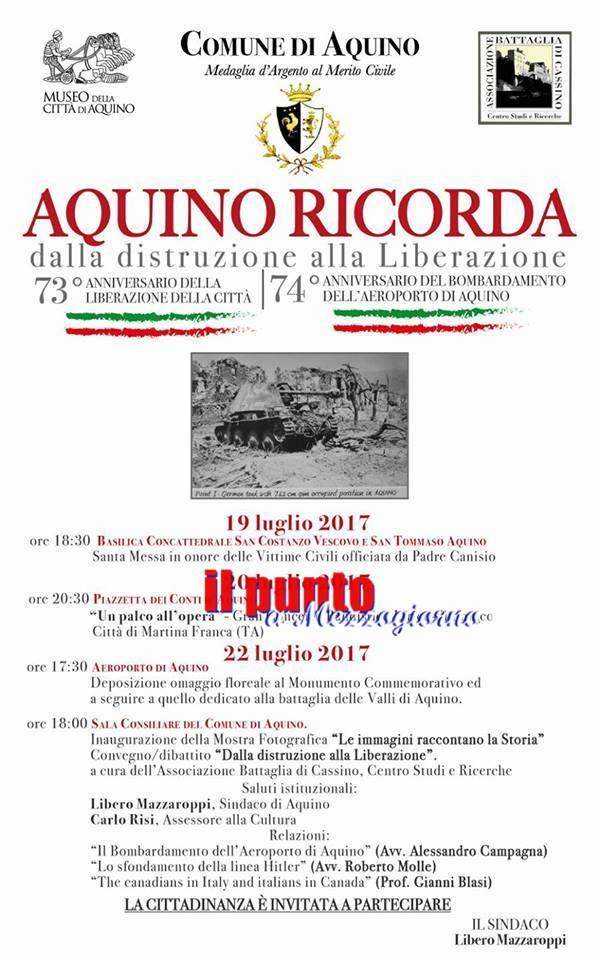 Aquino: La Città di Aquino ricorda le sue battaglie
