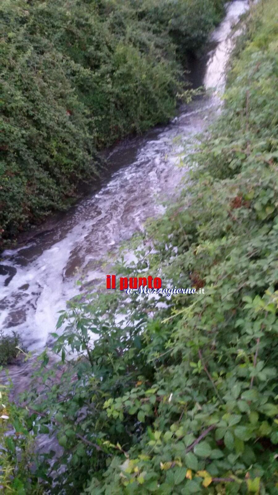 Cassino: Schiuma su Rio Pioppeto, preoccupazioni e disagi
