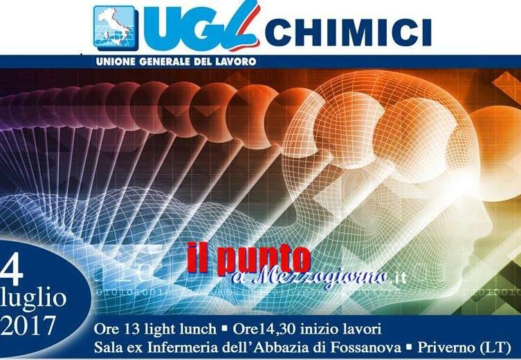 Ugl, il sistema chimico e farmaceutico al centro del convegno organizzato a Fossanova