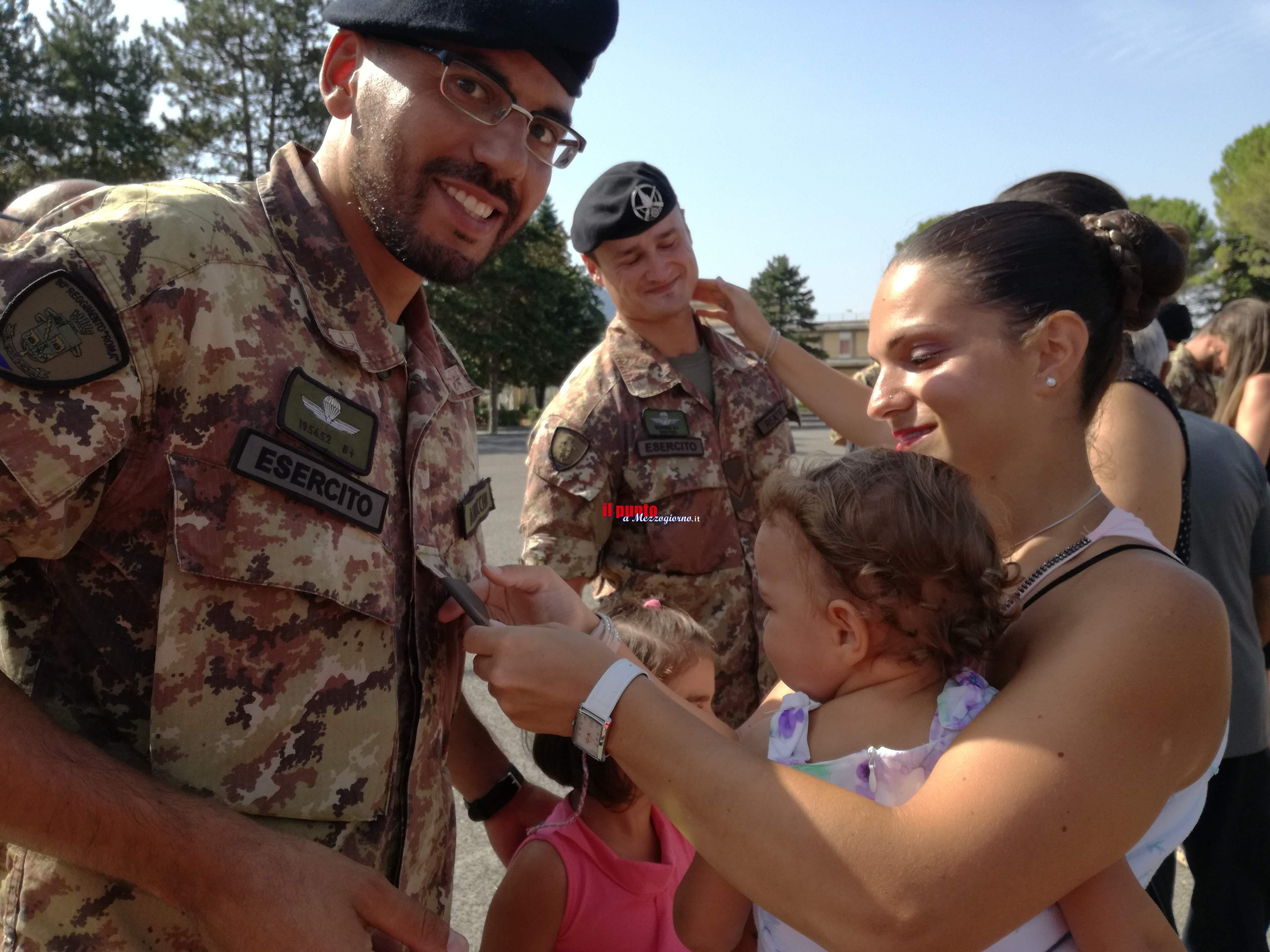 Cassino: Cerimonia di chiusura del 21° corso Sergenti all'80° Reggimento Roma. Emozioni e soddisfazioni