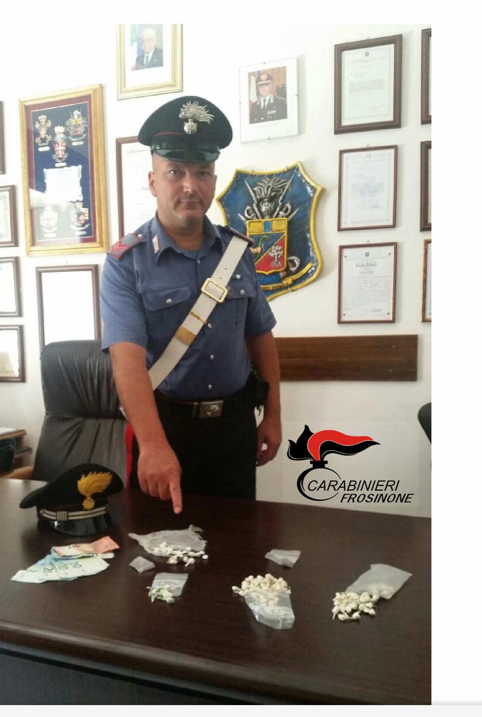 Frosinone: 200 dosi di cocaina sequestrate dai carabinieri del Norm