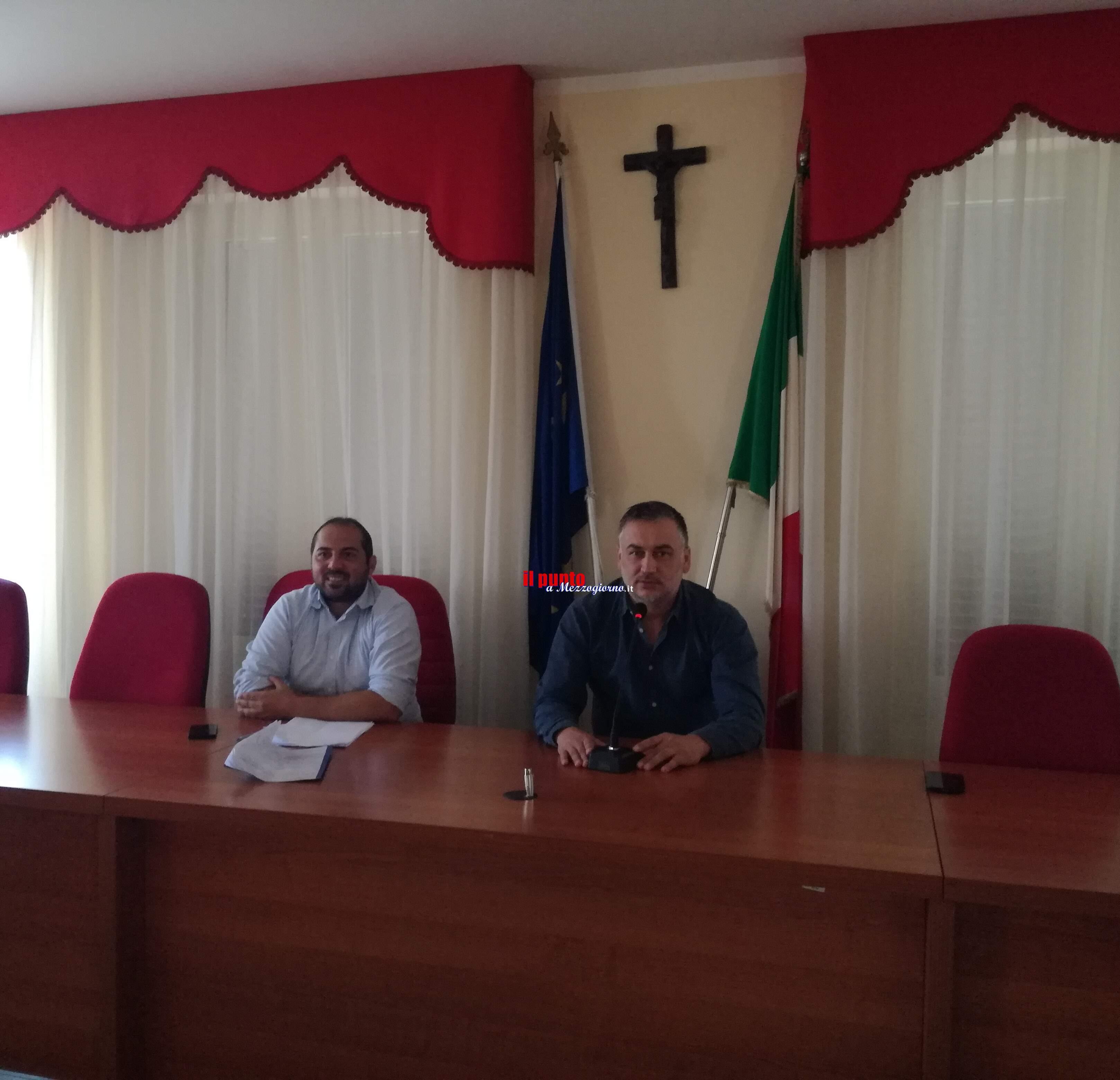 Presentata la società sportiva di calcio Real Piedimonte. Stamattina in comune con D'Alessandro e Roccaccino