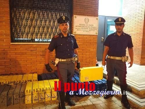 Fermato in A1, all'altezza di Mignano Monte Lungo, ricettatore di batterie. Denunciato dalla Polizia