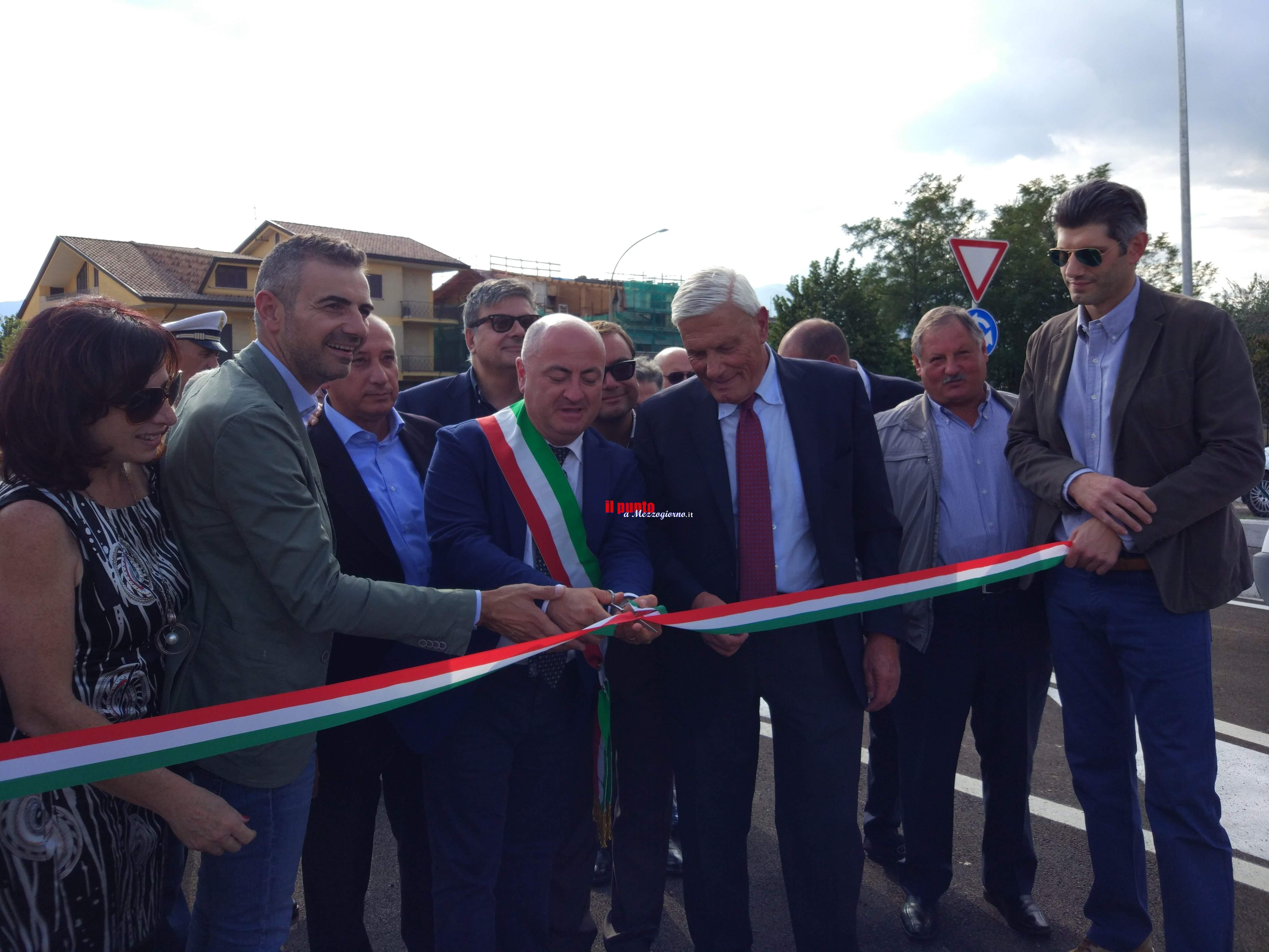 Frosinone, inaugurata la strada intitolata al Cav.Fanelli in zona Casaleno