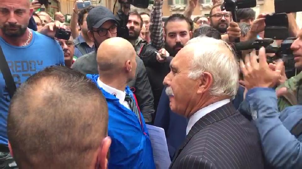 Gli italiani del MLI di Pappalardo a Montecitorio per chiedere il rispetto della Sentenza di Cassazione