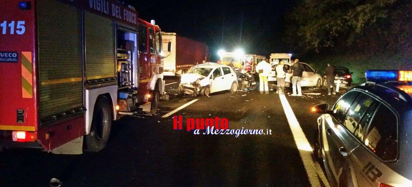 Incidente stradale sull'A1 a Cassino, si ferma per prestare soccorso e viene centrata da altre vetture