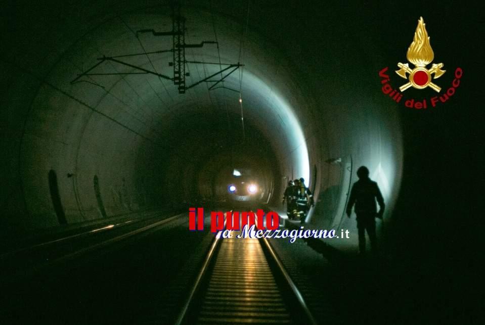 Esercitazione a Ceccano, simulato incendio su treno Frecciarossa