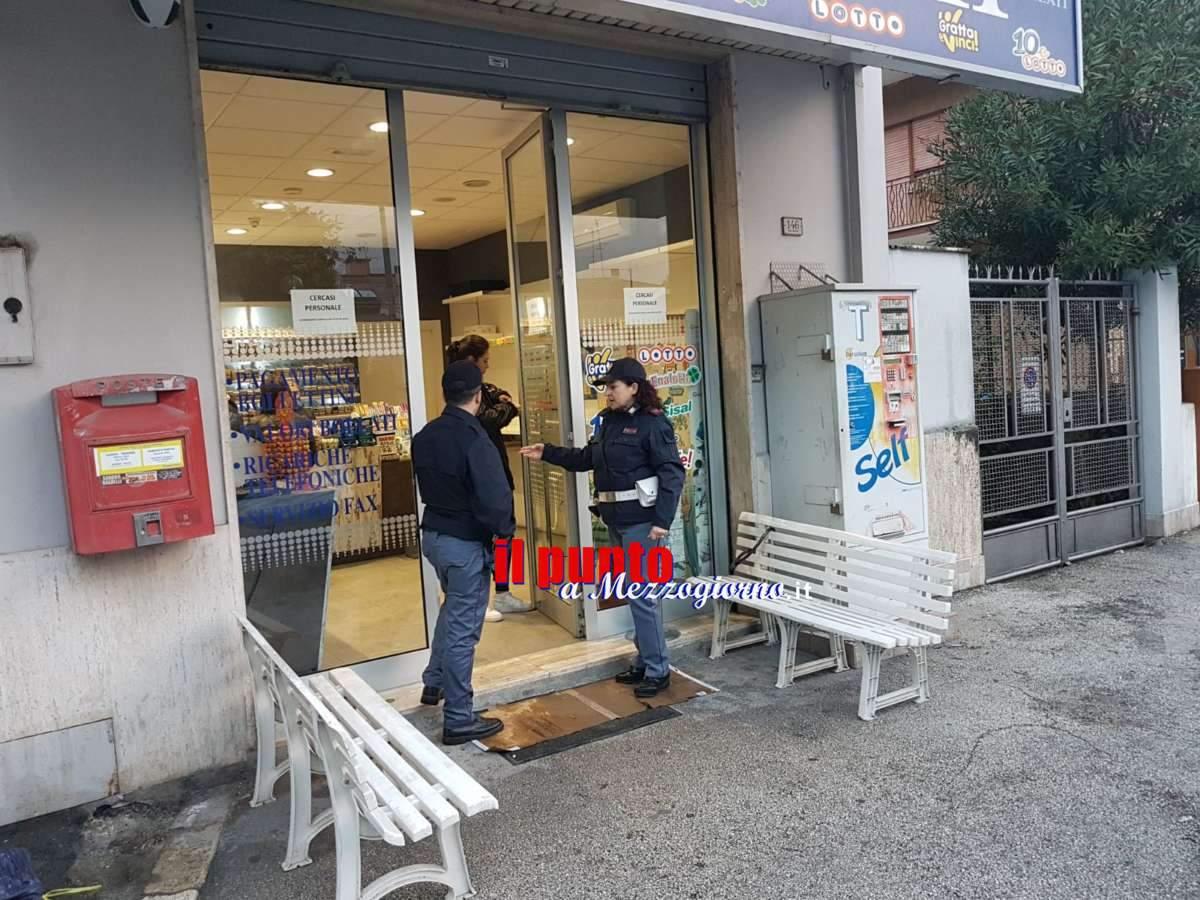 Tenta il furto alla tabaccheria a Cassino, ladro messo in fuga dalla polizia