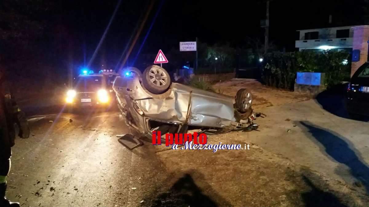 Incidente stradale sulla Casilina a Castrocielo, 40enne esce illeso da auto distrutta
