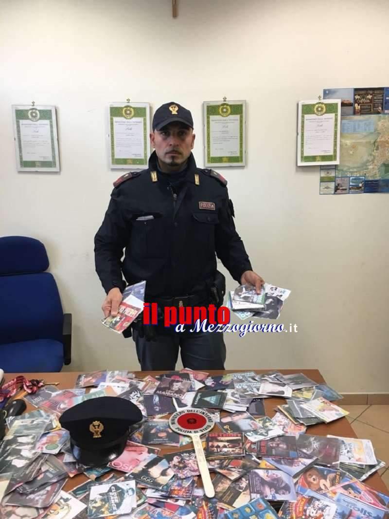 A Cassino per vendere cd e dvd Contraffatti, scatta il sequestro