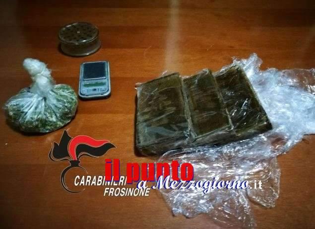 Droga, tre etti tra hashish e marijuana sequestrati a Supino, arrestato 53enne