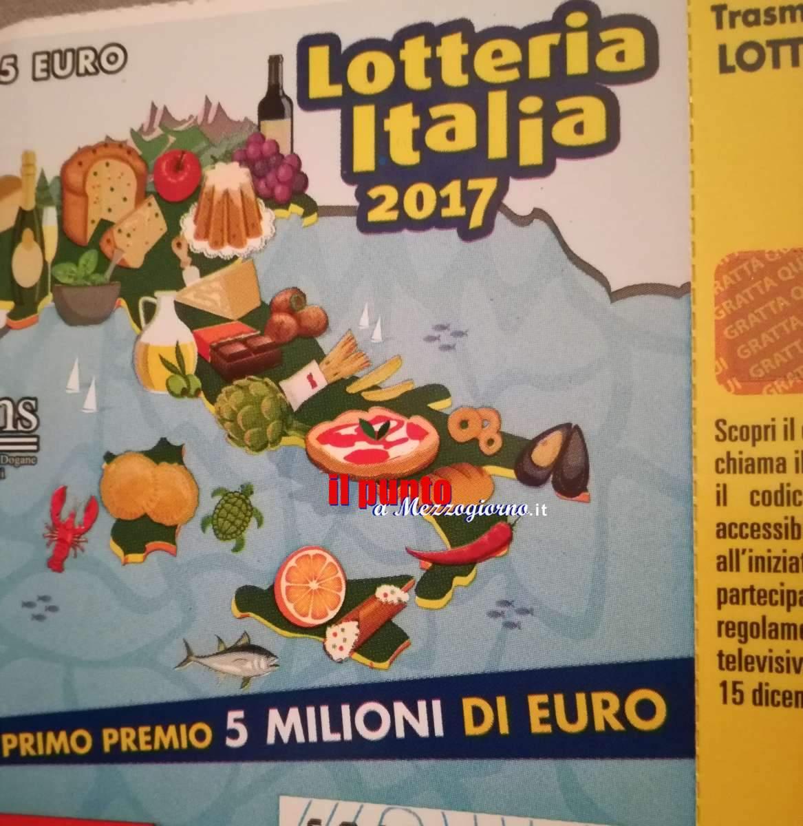 Lotteria Italia, venduto ad Anagni il biglietto da 5 milioni di euro