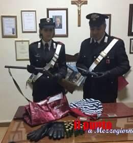 A spasso con fucile e cartucce, 47enne arrestato a Piedimonte