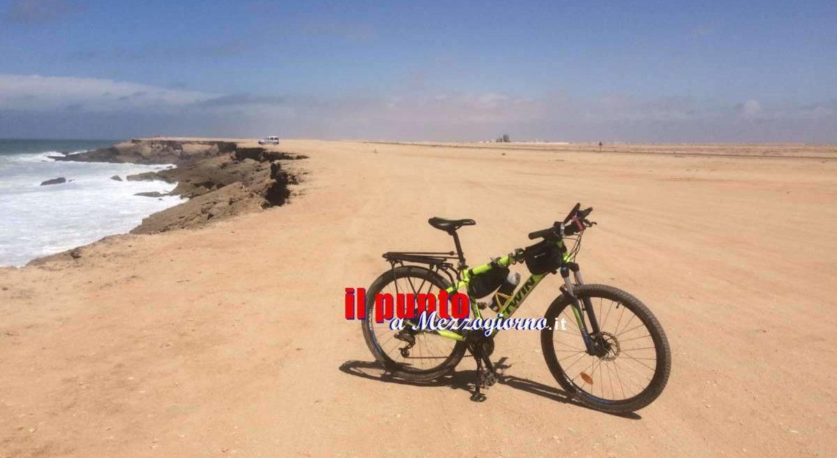 Dal Sahara all'Atlantico, continua l'avventura del ciclista Cassinate –  FOTO E VIDEO