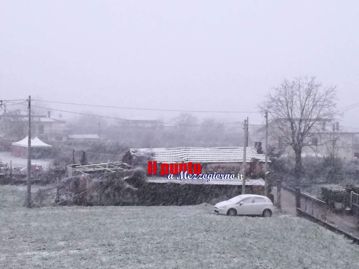 Grande freddo, Burian è arrivato: neve su tutta la provincia di Frosinone