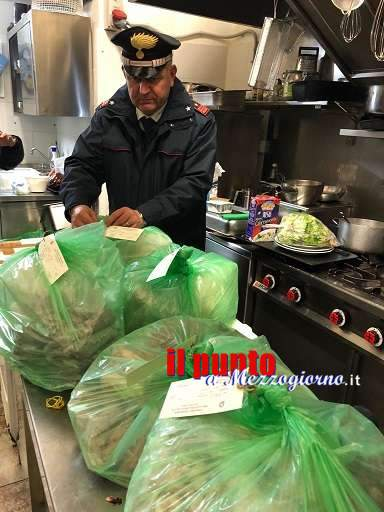 Alimenti mal conservati nel pub a Cassino, sequestrati un quintale tra carne e pesce