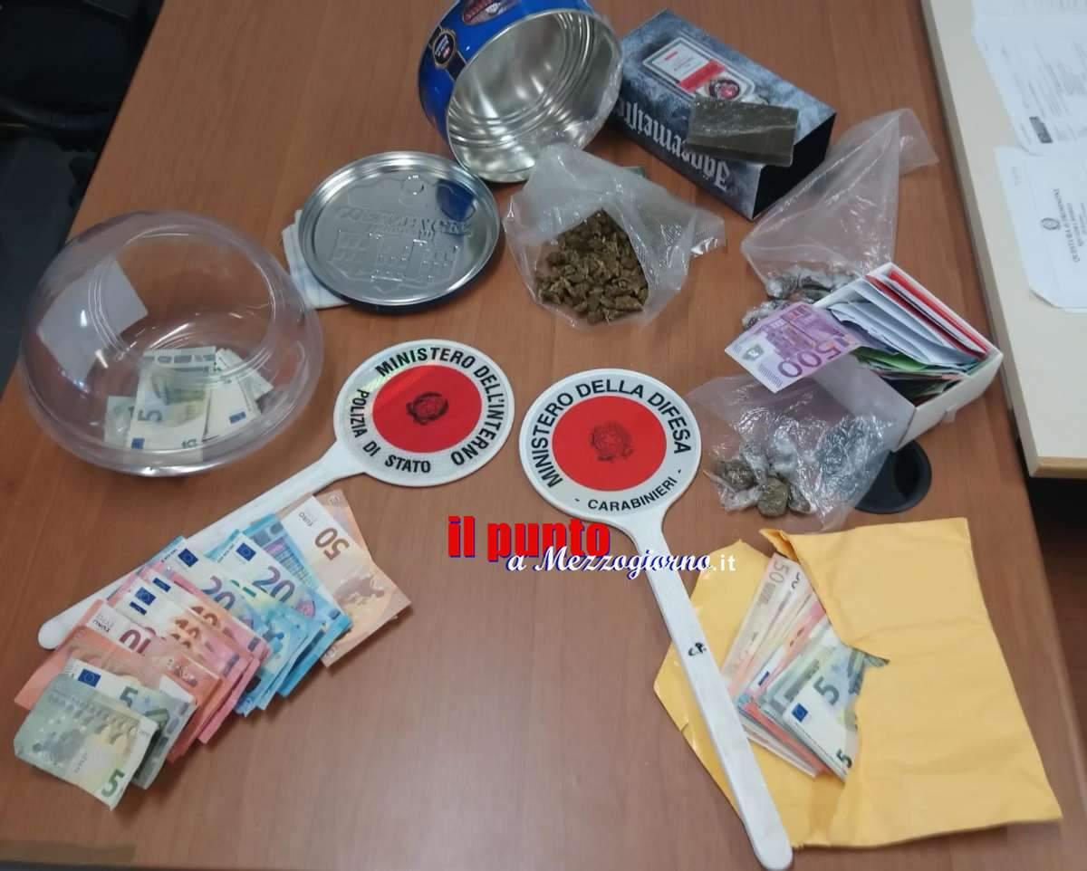 Un chilo di droga in due sequestri ad Alatri, arrestati spacciatori con passione per biscotti