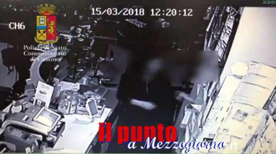 VIDEO – Cassino, ha rubato gratta & vinci per 50mila euro: arrestata dipendente bar