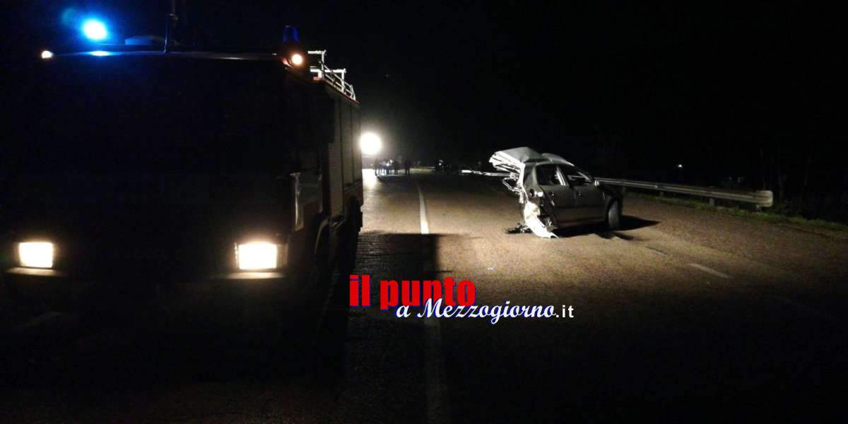 Tre morti e due feriti gravi in un incidente stradale ad Ausonia