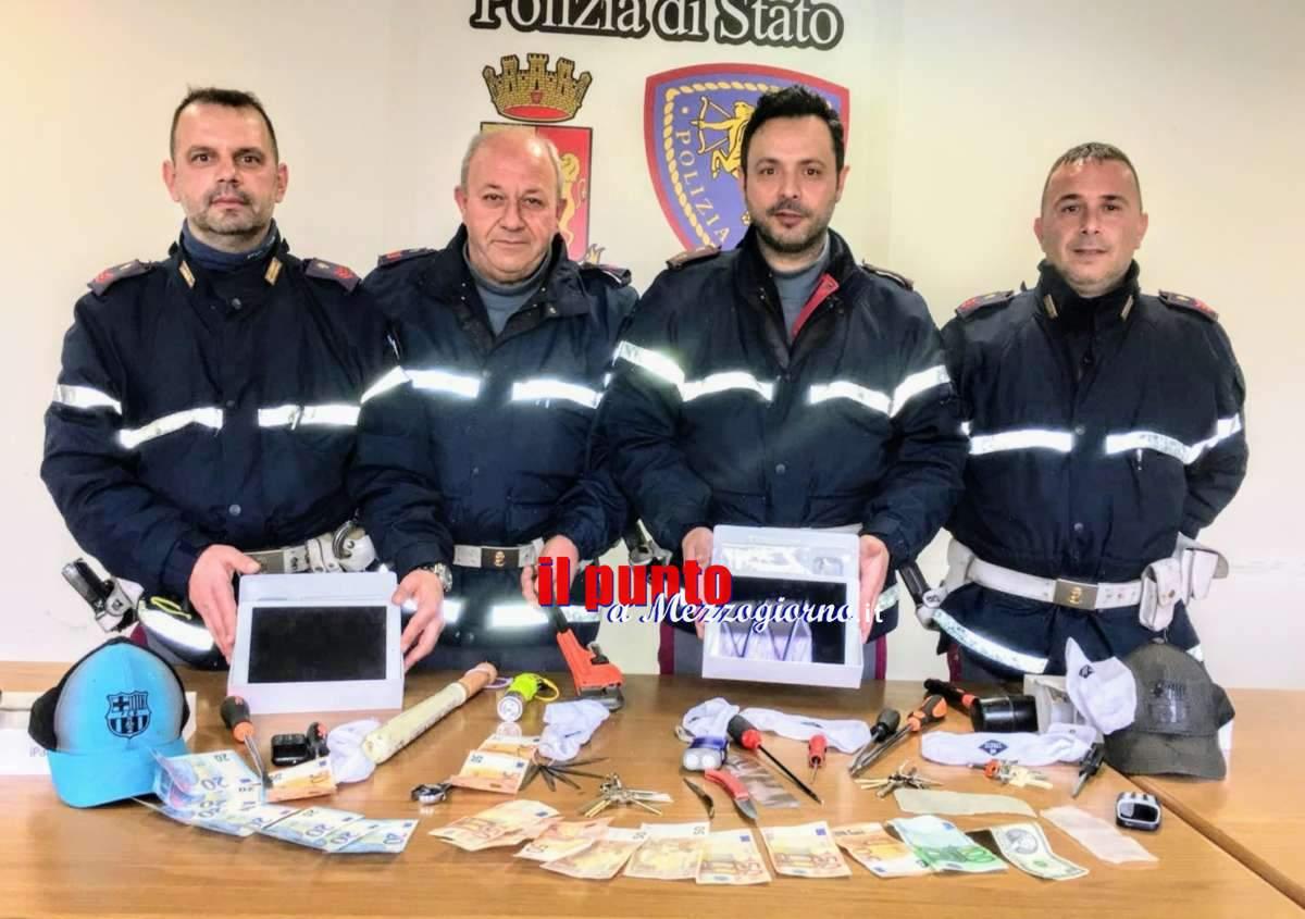 Svaligiano locali di assicuratore a Frosinone, in tre arrestati a Cassino dalla Stradale