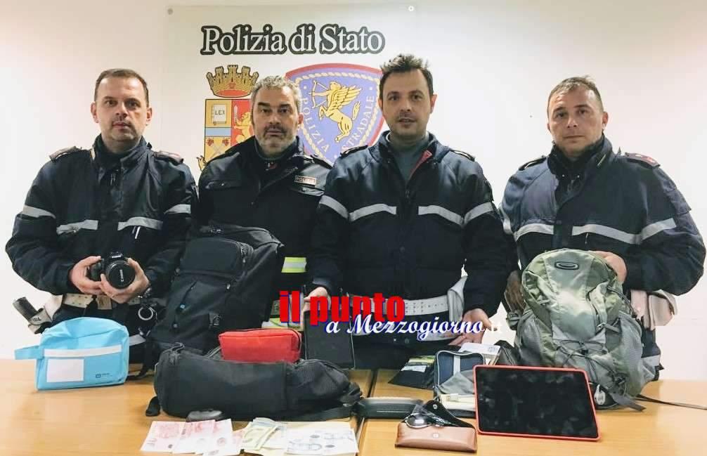 Razziava nelle stazioni di servizio, 40enne arrestato dalla Stradale a Cassino