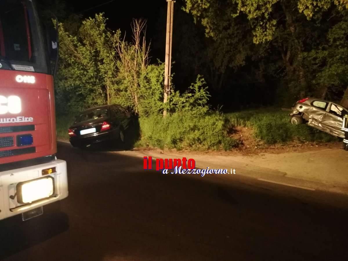 Incidente stradale a Cassino in località Panaccioni, due feriti