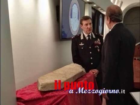 Restituita all'Iran una antica stele funeraria recuperata a Ferentino