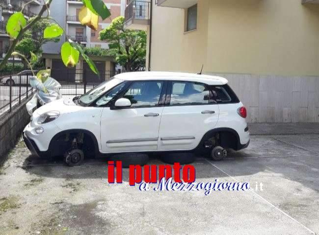 Ladri di ruote a Cassino, almeno due auto lasciate a terra