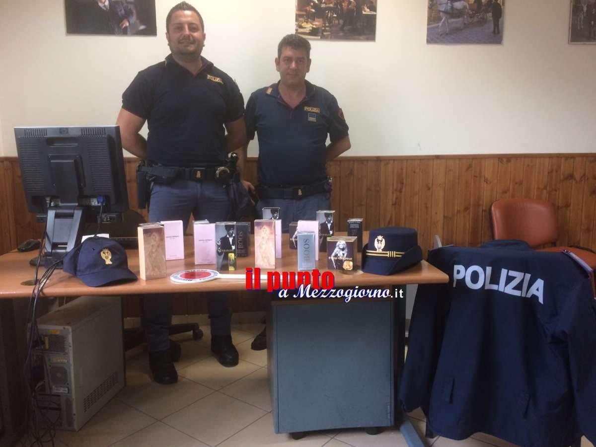 Seguono la scia a Cassino e trovano profumi tarocco, poliziotti denunciano due fratelli campani