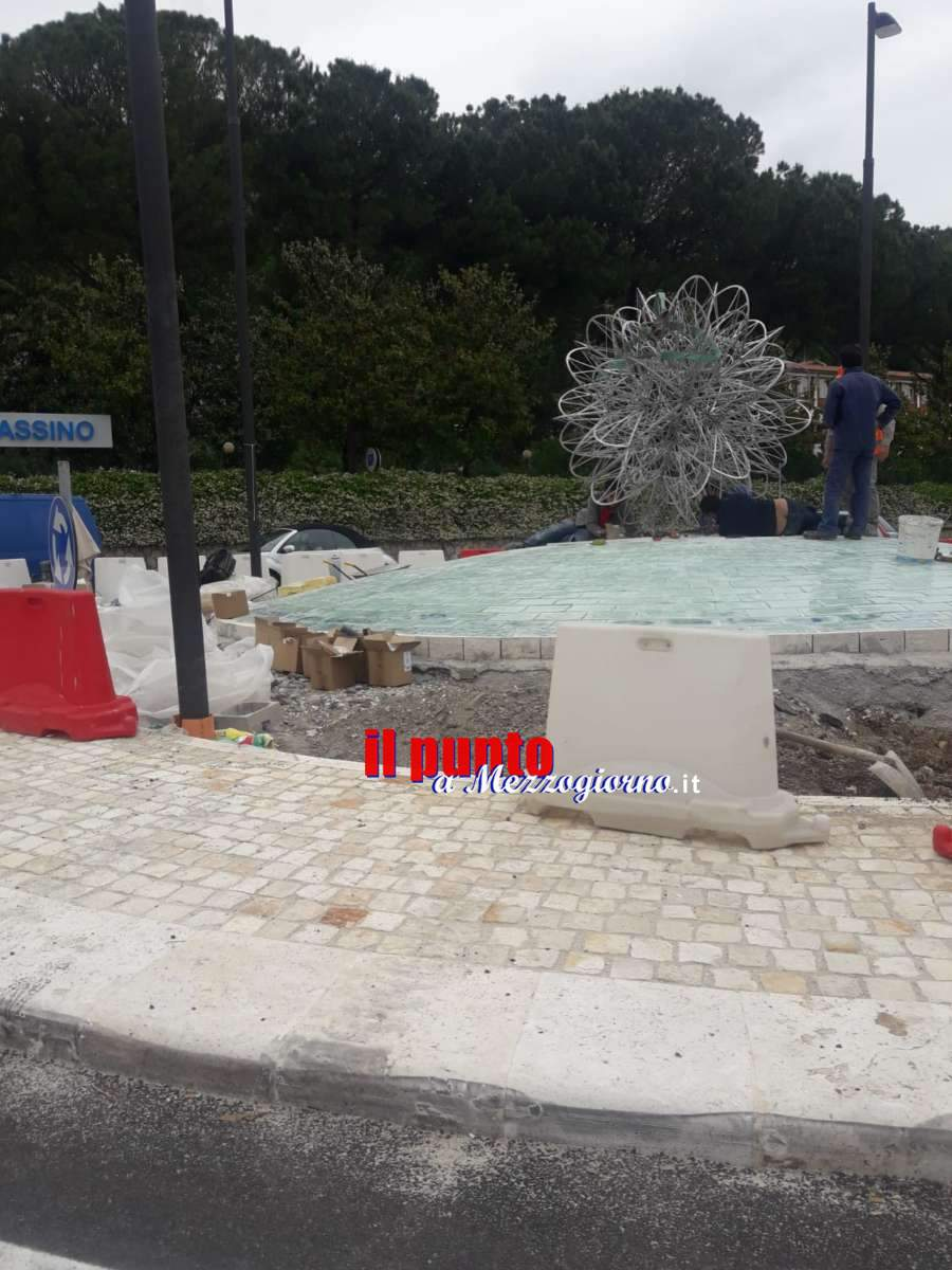 Installato il monumento di Saito sulla rotatoria di via Di Biasio a Cassino
