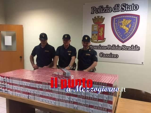 Marlboro di contrabbando sull'A1 a Cassino, due denunciati