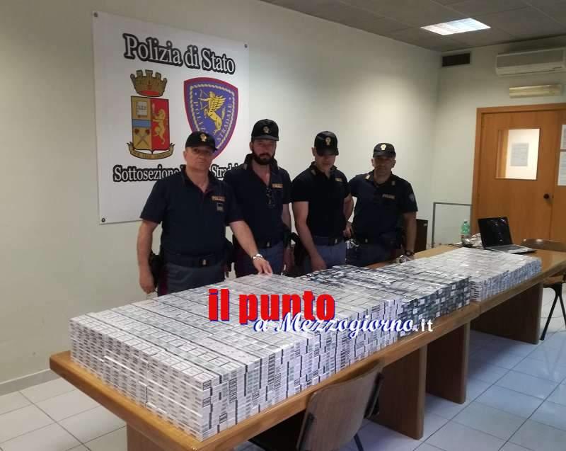 """Contrabbandieri di sigarette nella """"rete"""" della Polstrada sull'A1 a Cassino"""