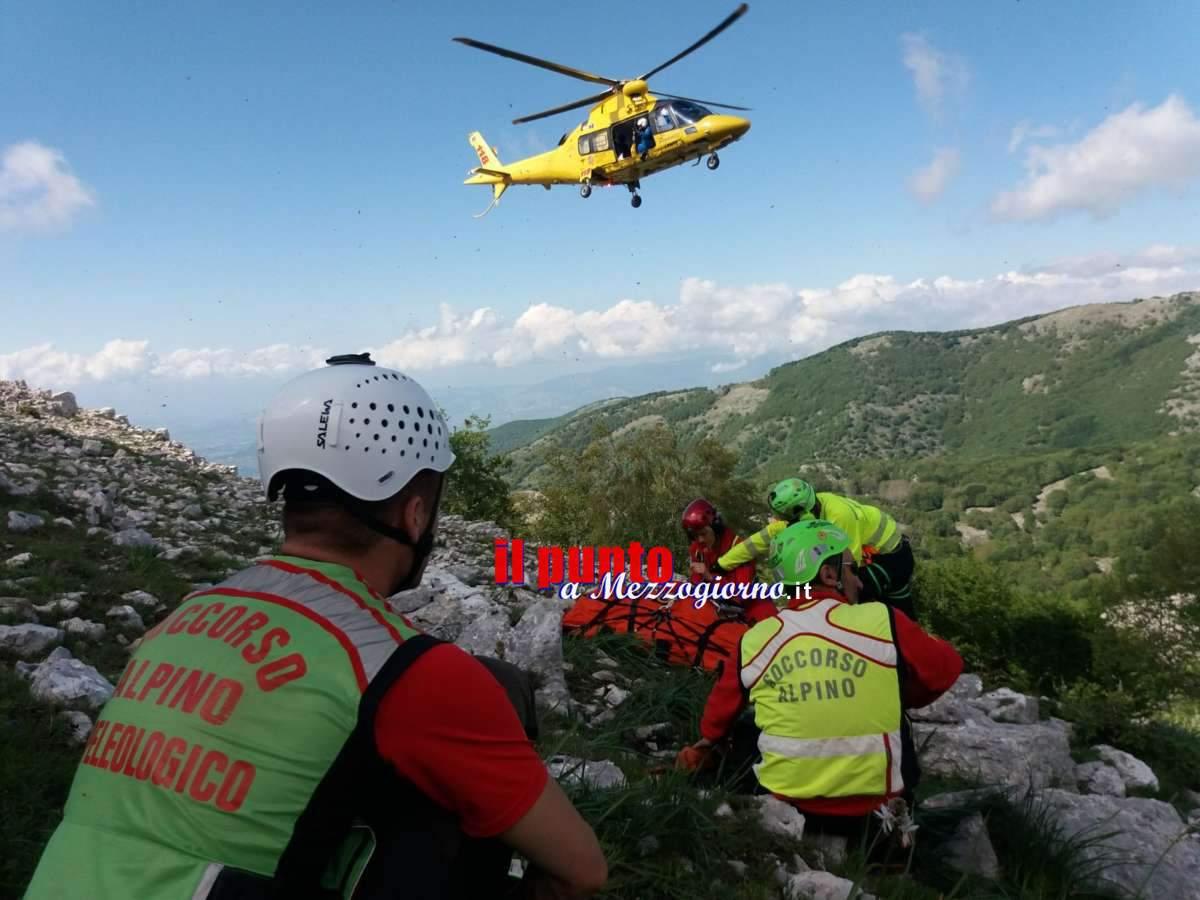 Escursionista ferito sui Monti Aurunci, salvato dal Soccorso Alpino di Cassino