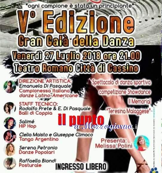 Cassino: Questa sera è Gran Galà della danza 2018. Appuntamento al teatro romano