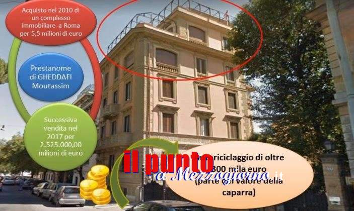 I tesori dei Gheddafi a Roma, scovati 2 mln frutto di vendita del complesso edilizio di Moutassim