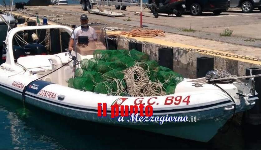 Nasse per la pesca nell'area Marina Riviera D'Ulisse a Gaeta, scattano i sequestri