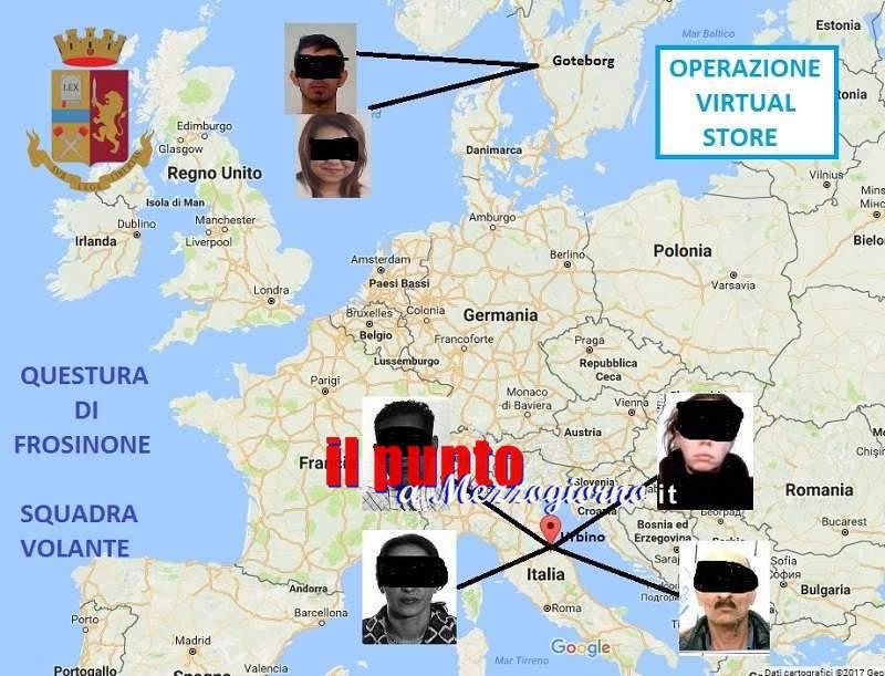 Truffe on line, dieci vittime nel frusinate: individuata banda di macedoni