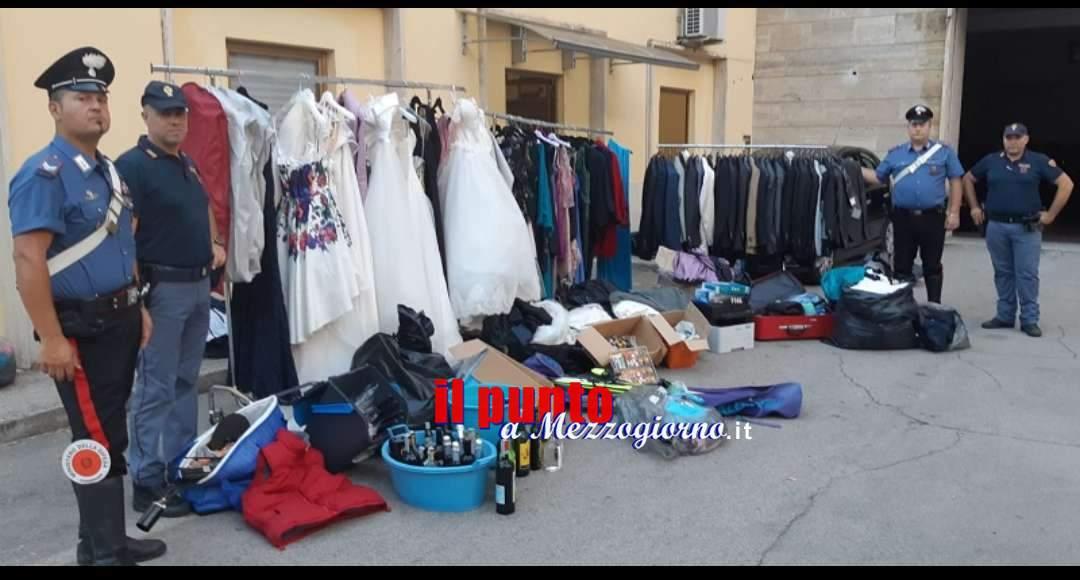 Maxi furto di abiti da sposa a Frosinone, trovato altro magazzino della refurtiva